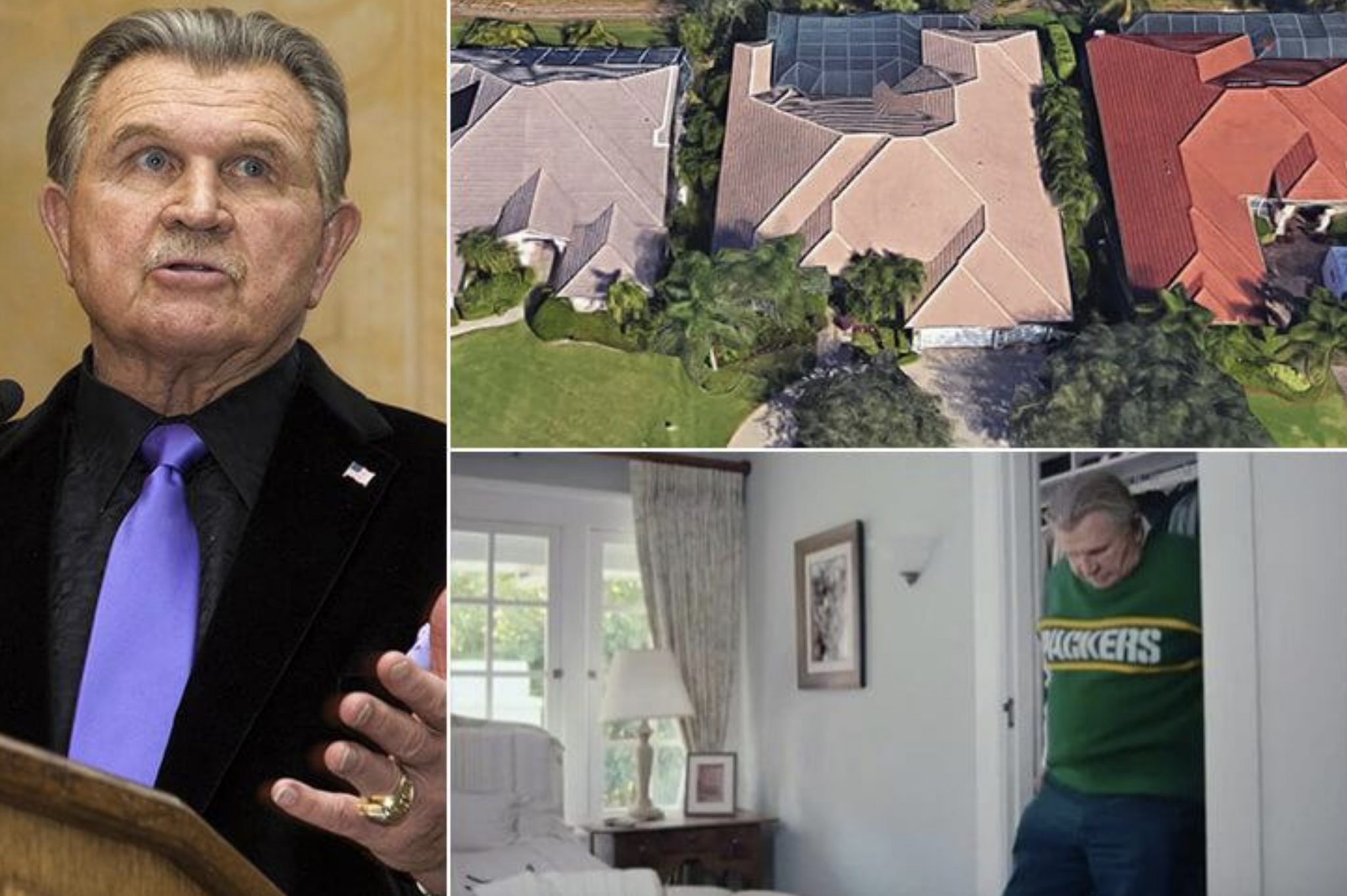 Mike Ditka's 3 Million Home In Florida